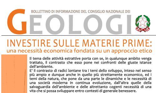 Bollettino Geologi luglio-agosto 2012