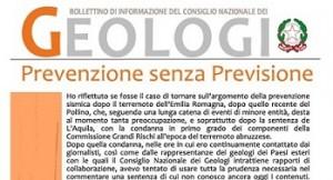 Bollettino Geologi settembre-ottobre 2012