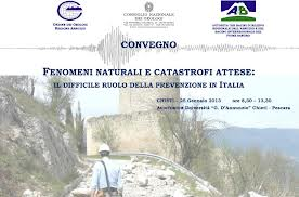 A rischio idrogeologico l'85 per cento dei comuni