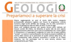Bollettino Geologi novembre-dicembre 2012