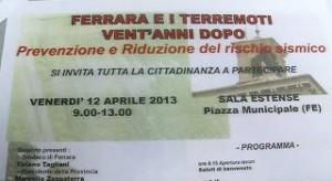 Ferrara, terremoti 20 anni dopo