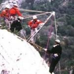 Spavento per gli escursionisti ferraresi bloccati da una frana sul Vajont