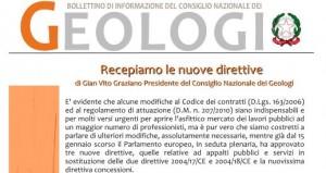 Bollettino Geologi gennaio – aprile 2014