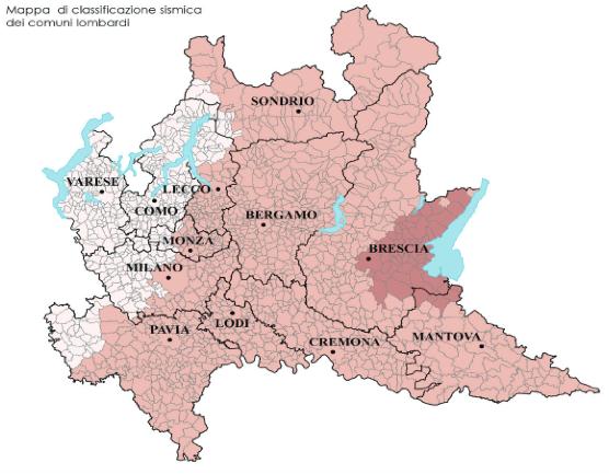 Pubblicata la nuova zonizzazione sismica in Lombardia