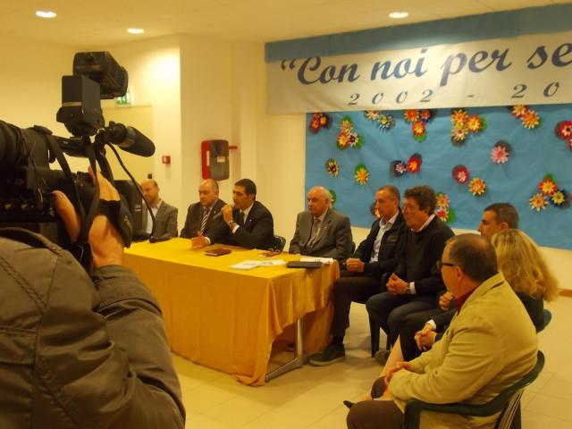 San Giuliano di Puglia, 30 ottobre 2014 – Un momento della conferenza stampa