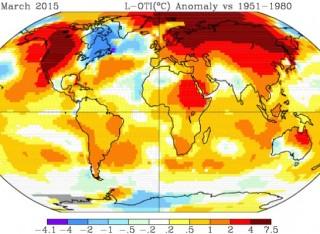 Caldo record nel mondo, Nasa: «Nel primo trimestre 2015 temperature mai registrate»