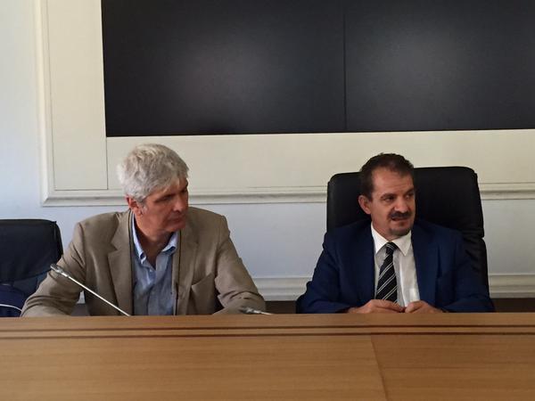 Gian Vito Graziano, Presidente Consiglio Nazionale dei Geologi e Mauro Grassi, Direttore della struttura di missione contro il dissesto idrogeologico e per lo sviluppo delle infrastrutture idriche.