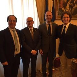 Incontro con il Ministro Alfano del giorno 20 aprile 2016