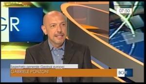 Gabriele Ponzoni ai vertici della Federazione Europea Geologi ospite al TGR Emilia Romagna