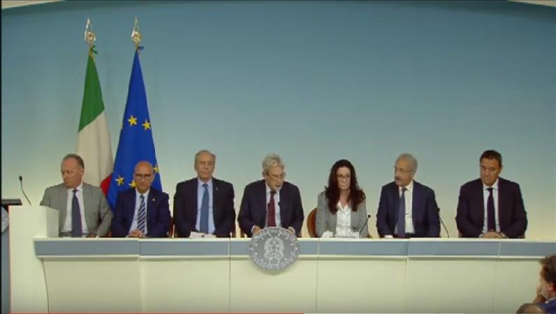 Casa Italia, conferenza stampa consultazioni Governo con organizzazioni professionali – Palazzo Chigi, 06/09/2016