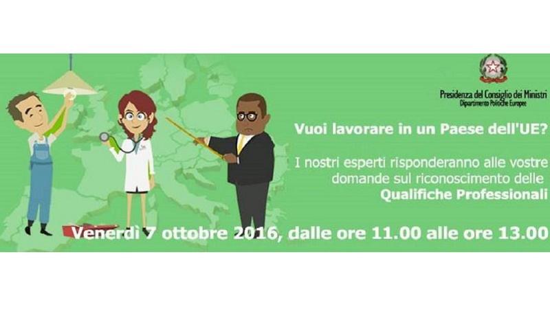 Qualifiche professionali, il 7 ottobre una live chat su facebook