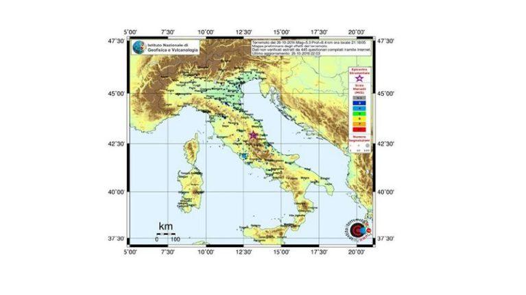 Sequenza sismica in Italia centrale: aggiornamento del 27 ottobre 2016, ore 8.00