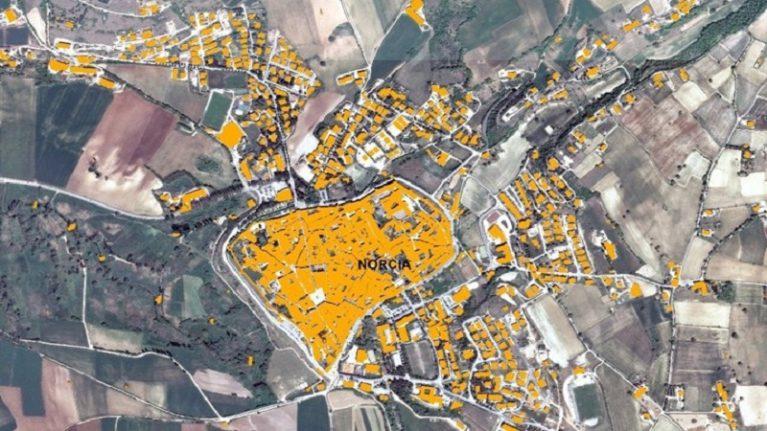 Umbria, online la banca dati dei fabbricati per i rilievi dei danni del sisma