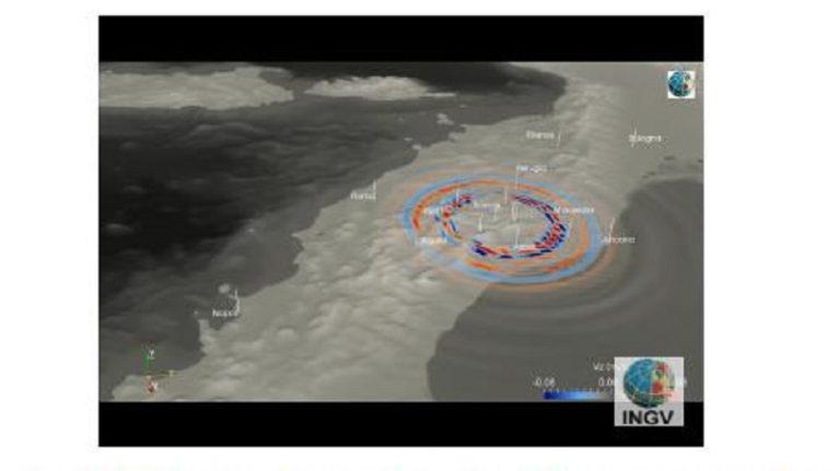 SHAKEMOVIE: Propagazione (preliminare) delle onde sismiche del terremoto del 30 ottobre 2016 ore 07:40 (M 6.5)