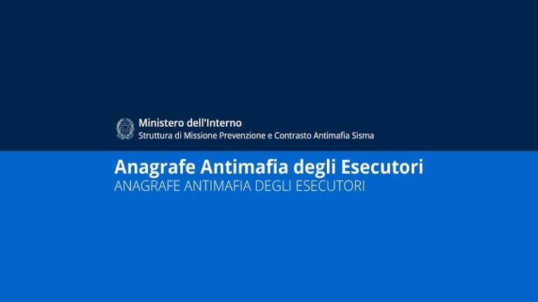 Terremoto centro Italia e Anagrafe Antimafia degli Esecutori: iscrizione solo online