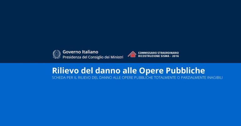 Terremoto centro Italia e Ricostruzione pubblica: online la piattaforma per il rilevamento danni
