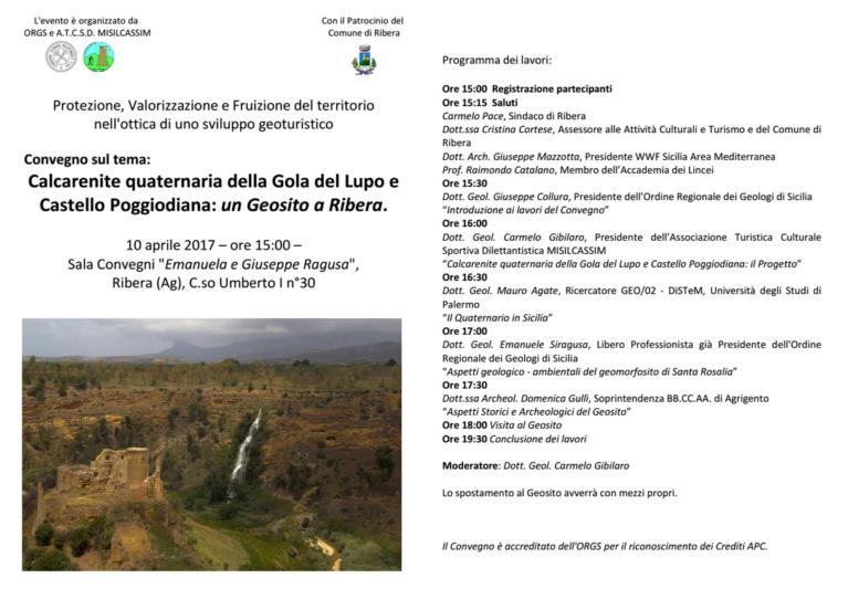 Protezione, Valorizzazione e Fruizione del territorio  nell'ottica di uno sviluppo geoturistico