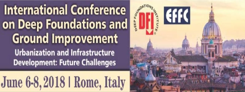 International Conference on Deep Foundations and Ground Improvement – Roma 6-8 Giugno 2018