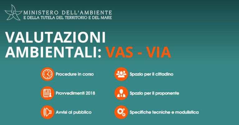 Valutazioni Ambientali VAS e VIA: online il nuovo portale del Ministero dell'Ambiente