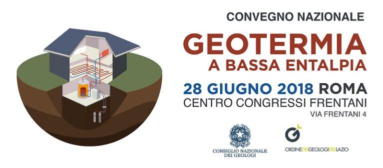 """Convegno Nazionale """"Geotermia a Bassa Entalpia"""""""