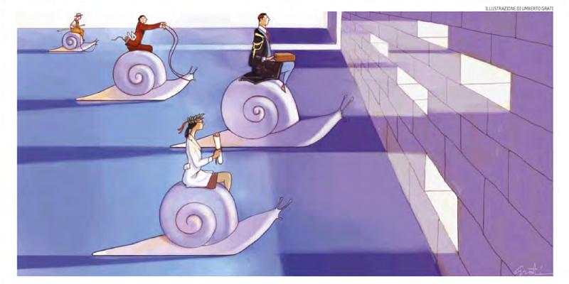 L'attesa verso il lavoro divide le professioni