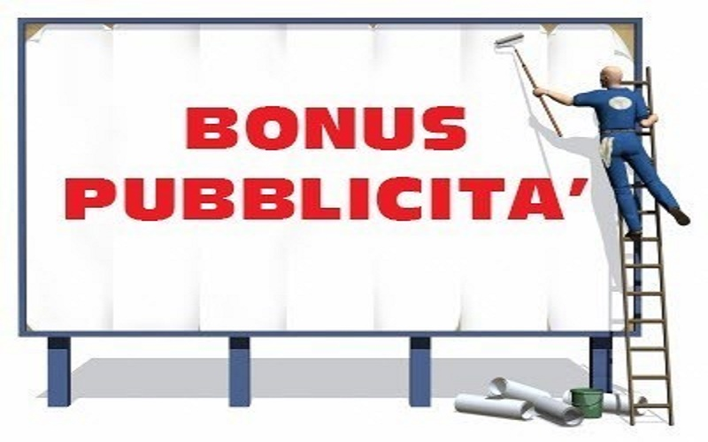 Bonus pubblicità, domande separate per anno