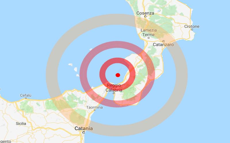 Calabria, terremoto di magnitudo 4.2 tra Catanzaro, Vibo e Reggio. Scossa anche a Catania