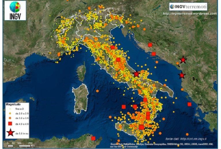 Ingv: nel 2018 in Italia sono stati registrati 23.180 terremoti