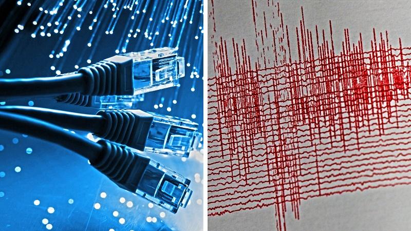 I terremoti rilevati con la fibra ottica