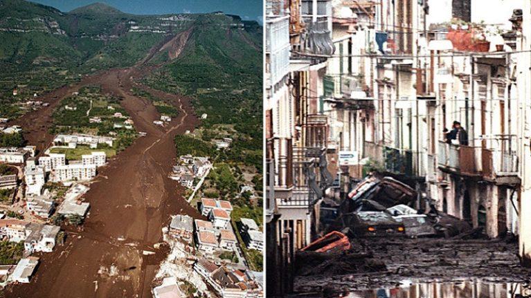 21° anniversario frane Sarno e Quindici, geologi: il 91% dei comuni italiani è ancora a rischio