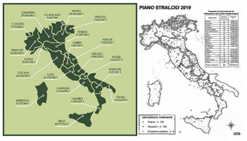 Dissesto idrogeologico, Costa firma il piano stralcio da oltre 315 milioni per 263 interventi
