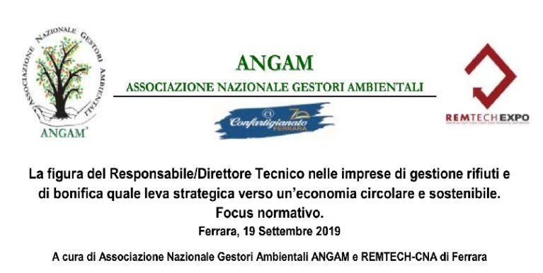 La figura del Responsabile/Direttore Tecnico nelle imprese di gestione rifiuti e di bonifica quale leva strategica verso un'economia circolare e sostenibile