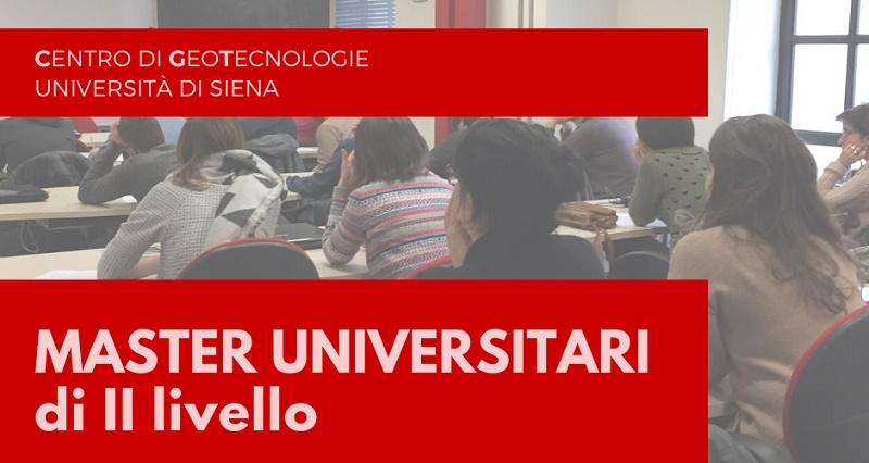 Centro di GeoTecnologie (CGT) dell'Università di Siena – Master Universitari di II Livello A.A. 2019/2020