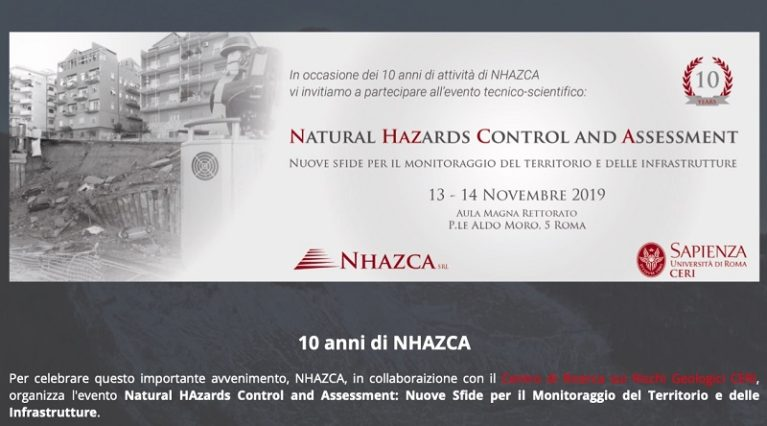 Natural HAzards Control and Assessment: Nuove Sfide per il Monitoraggio del Territorio e delle Infrastrutture.