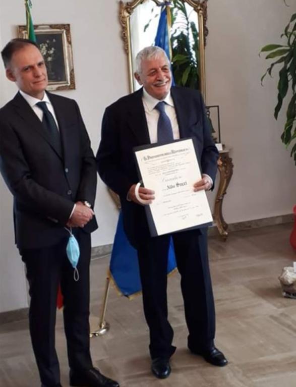 Il Geologo Aldo Succi insignito del titolo di Cavaliere della Repubblica per meriti ambientali