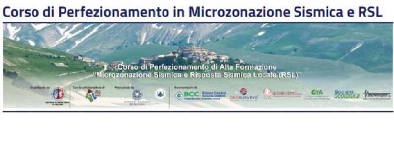 Corso di perfezionamento di alta formazione in microzonazione sismica e risposta sismica locale (RSL)
