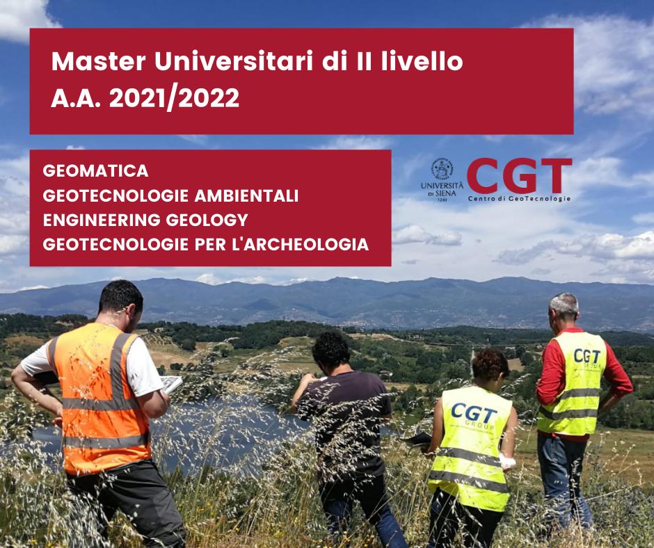 Master Universitari di II livello al Centro di GeoTecnologie dell'Università di Siena – A.A. 2021/2022