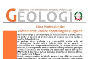Bollettino Geologi novembre-dicembre 2011