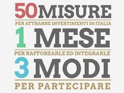 """""""Destinazione Italia"""", il piano del Governo in consultazione pubblica"""