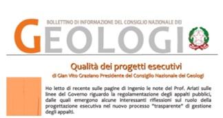 Bollettino Geologi maggio – agosto 2014
