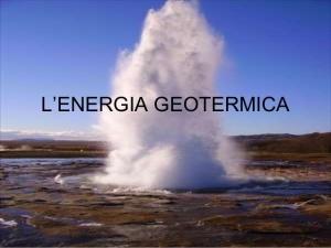 Geotermia: La Camera approva una risoluzione per la zonizzazione e le linee guida
