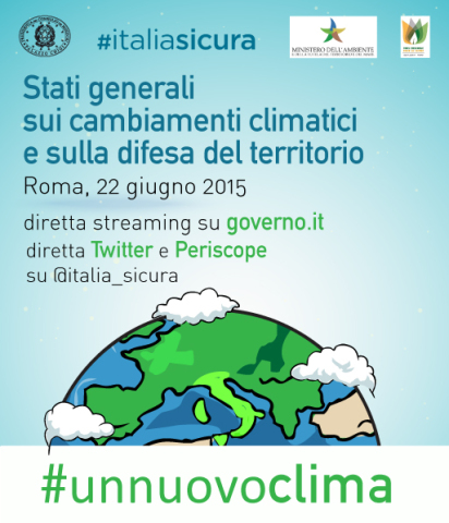 """#unnuovoclima al lavoro per preparare gli """"Stati Generali sui cambiamenti climatici e sulla difesa del territorio"""""""