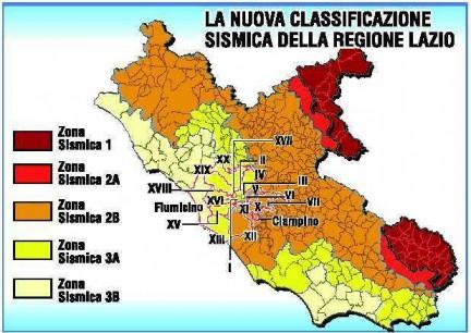 Ecco le zone più sismiche del Lazio