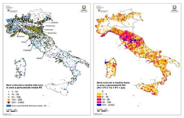 Beni culturali e rischi idrogeologici: le Mappe di Ispra