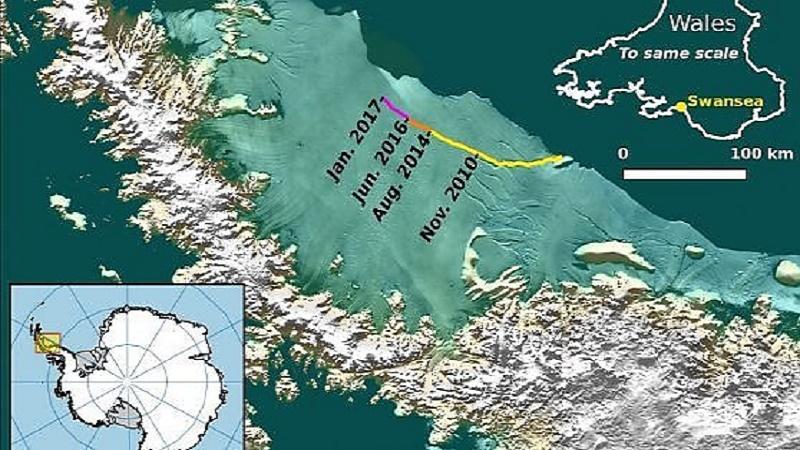 Il super iceberg più grande della Liguria