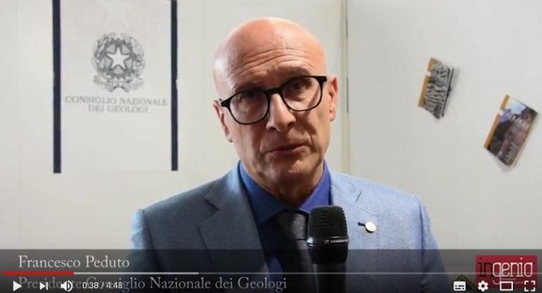 Proposte per la messa in sicurezza del territorio italiano: intervista a Francesco Peduto, Presidente CNG