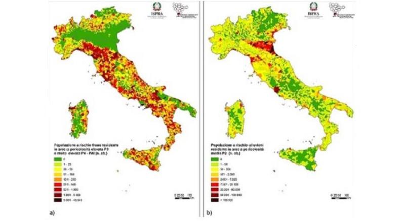 Il quadro sul dissesto idrogeologico in Italia: una sintesi dal rapporto ISPRA