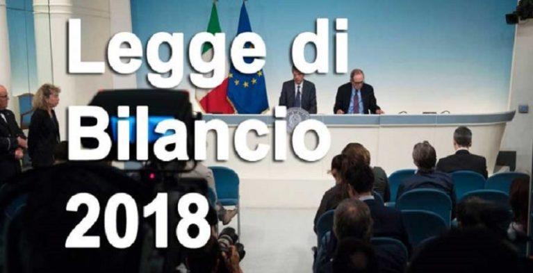 Legge di bilancio 2018