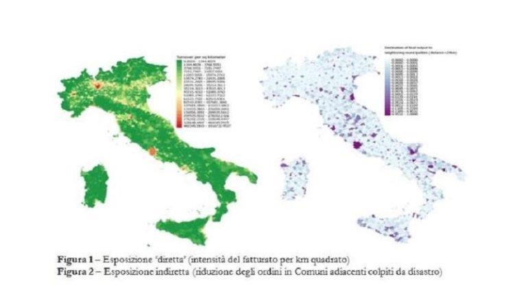 Ecco la prima mappa per valutare i (potenziali) danni da disastri naturali nei Comuni italiani