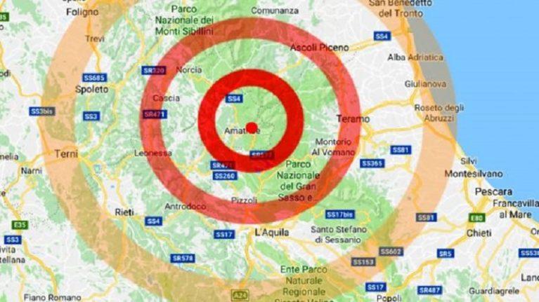 Ad Amatrice la terra torna a tremare paura per una scossa di magnitudo 4